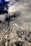 Aerial view over Himalayas Stock Image