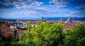 Aerial View over the Historic City of Florence Royalty Free Stock Photography