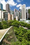 Aerial view over hong kong park Royalty Free Stock Photography