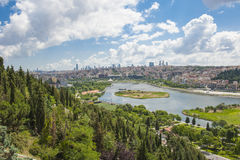 Free Aerial View Over Istanbul Turkey Royalty Free Stock Images - 42959989