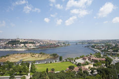 Aerial view over Istanbul Turkey Stock Photos