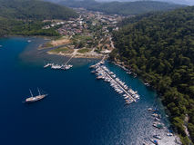 Aerial view over Karacasogut Bay, Marmaris, Turkey Stock Photography