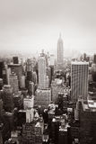 Aerial view over Manhattan Stock Photography