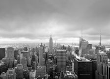 Aerial view over Manhattan Stock Photos