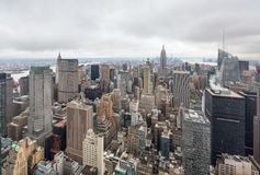 Aerial view over Manhattan Stock Image