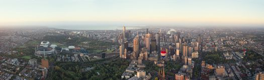 Aerial view over melbourne Royalty Free Stock Photo