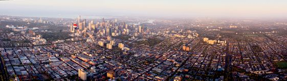 Aerial view over melbourne Stock Image