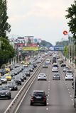 Bucharest national road seen from above royalty free stock images