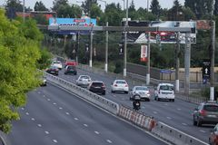 Bucharest national road seen from above stock images