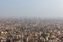 Aerial view over the Nepalese capital Kathmandu. Stock Photo