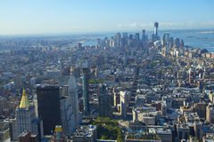 An aerial view over New York city Royalty Free Stock Photography