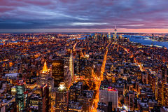 Aerial view over New York royalty free stock photo