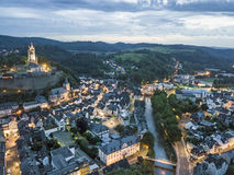 City of Dillenburg, Germany. Aerial view over the old town of Dillenburg. Lahn-Dill-Kreis, Hesse, Germany royalty free stock photo