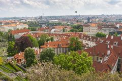 Aerial view over Old Town, Prague Royalty Free Stock Image