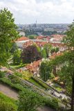 Aerial view over Old Town, Prague Stock Photos