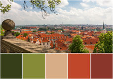 Aerial view over Old Town, Prague, Czech Republic Stock Photography