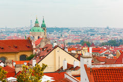 Aerial view over Old Town in Prague, Czech Republic Royalty Free Stock Photo