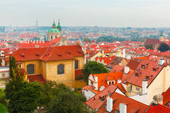 Aerial view over Old Town in Prague, Czech Republic Stock Photography