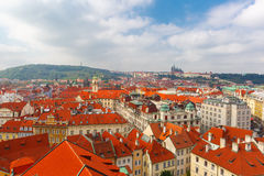 Aerial view over Old Town in Prague, Czech Republic Royalty Free Stock Image