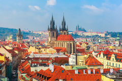 Aerial view over Old Town in Prague, Czech Republic Stock Image