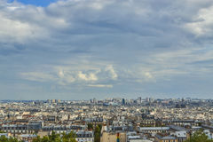 Aerial view over Paris, France royalty free stock photos