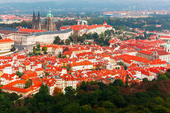 Aerial view over Prague Castle in Prague, Czech Republic Royalty Free Stock Photo