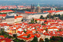 Aerial view over Prague Castle in Prague, Czech Republic Stock Photos
