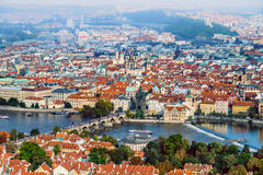 An aerial view over Prague Stock Photography