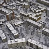 Aerial view over Riga suburb Stock Photography