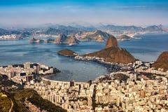 Aerial view over Rio de Janeiro stock image