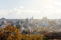 Rome View from Gianicolo Hill. Aerial view over rome taken from gianicolo hill Royalty Free Stock Photos