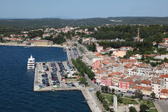 Aerial view over Rovinj, Croatia Stock Photo