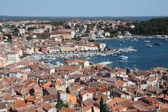 Aerial view over Rovinj, Croatia Royalty Free Stock Photos