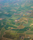 Aerial view over rural landscape Stock Photo