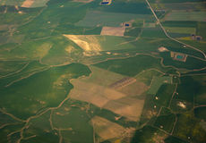Aerial view over rural landscape Stock Photography