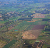 Aerial view over rural landscape Royalty Free Stock Image