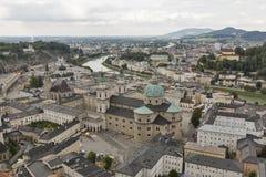 Aerial view over Salzburg city center, Austria Stock Photography