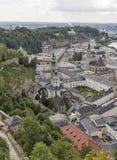 Aerial view over Salzburg city center, Austria Stock Image