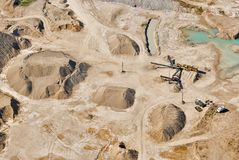 Aerial view over sandpit Royalty Free Stock Image