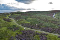 Free Aerial View Over Scenic Upland At Sunset Stock Photo - 158382380
