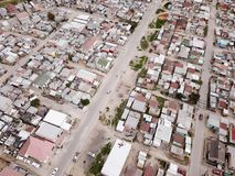 Aerial view over South African township. Aerial view over a South African township royalty free stock images