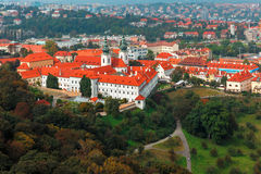 Aerial view over Strahov Monastery in Prague, Czech Republic Royalty Free Stock Photo