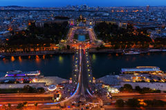 Aerial view over the Trocadero Square in Paris Royalty Free Stock Photo