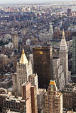 Aerial  view over upper Manhattan from Empire State building top Stock Photo