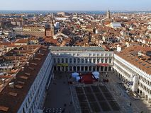 Aerial view over Venice in Italy royalty free stock images
