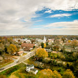 Aerial view over white rose city york soth carolina Royalty Free Stock Photos