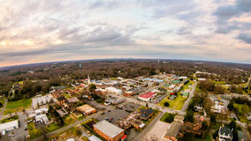 Aerial view over york south carolina at sunset Stock Photos