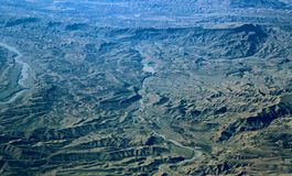 Aerial view over Zagros Mountains, Iran Stock Photography