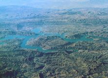 Aerial view over Zagros Mountains, Iran Royalty Free Stock Photography