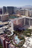 Aerial view overlooking the Las Vegas Strip in Nevada. Stock Images